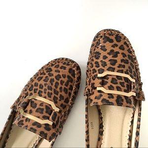 Ashro Leopard Mules Animal Print Slides